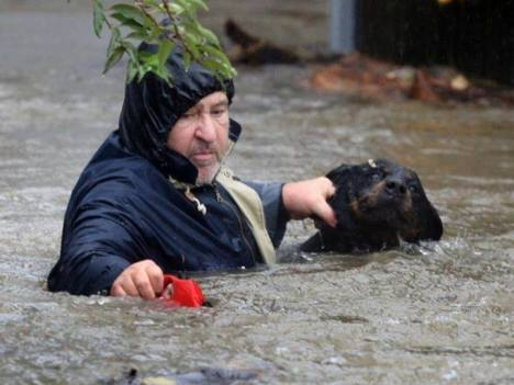 serbia floods man rescue