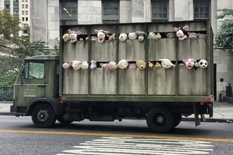 Banksy New York animal truck