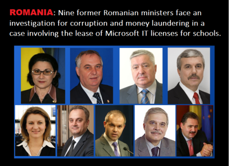 romanian ministers corruption