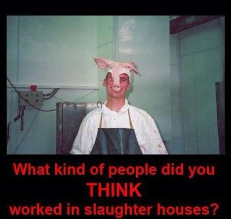 slaughterhouse worker