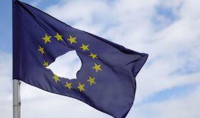 EU flag with hole